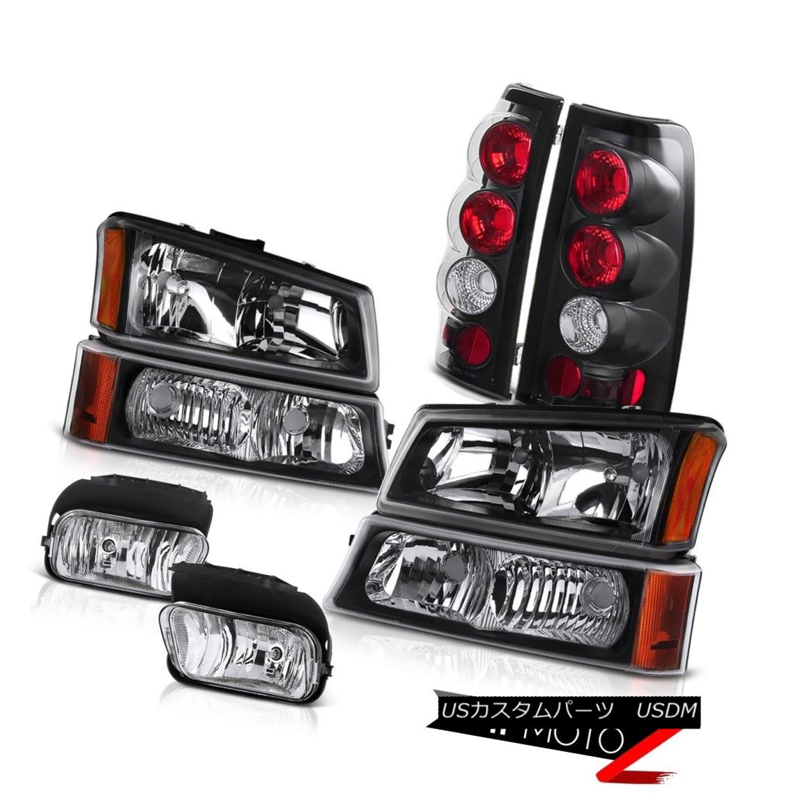 ヘッドライト 03 04 05 06 Silverado Black Diamond Headlight Crystal Bumper Tail Lights Foglamp 03 04 05 06 Silverado Black DiamondヘッドライトクリスタルバンパーテールライトFoglamp
