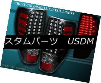 テールライト 2004-2009 CHEVY COLORADO / GMC CANYON TAIL LIGHTS LED BLACK BRAKE LAMPS NEW 2004-2009 CHEVY COLORADO / GMCキャニオンテールライトLED BLACK BRAKE LAMPS NEW