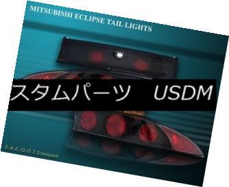 テールライト 95-99 MITSUBISHI ECLIPSE TAIL LIGHTS BLACK 3PC 96 97 98 99 95-99ミツビシエクリプステールライトブラック3PC 96 97 98 99