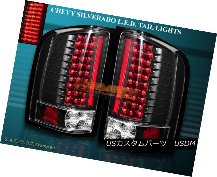 テールライト 2007-2013 CHEVY SILVERADO TAIL LIGHTS LED BLACK NEW BLACK 2007-2013 CHEVY SILVERADOテールライトLED BLACK NEW BLACK