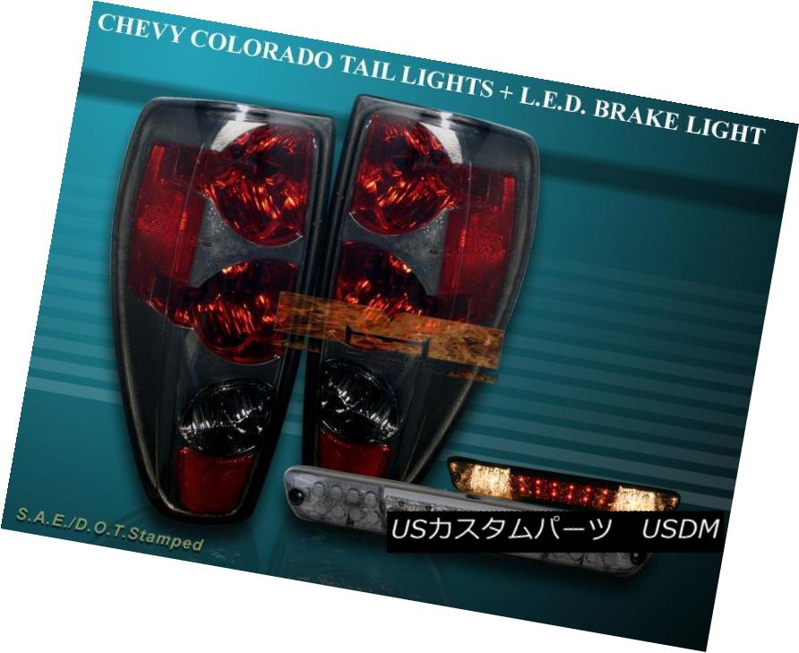 テールライト 2004-2010 CHEVY COLORADO / GMC CANYON TAIL LIGHTS SMOKE+ 04-08 LED BRAKE LIGHT 2004-2010 CHEVY COLORADO / GMCキャニオンテールライトSMOKE + 04-08 LEDブレーキライト