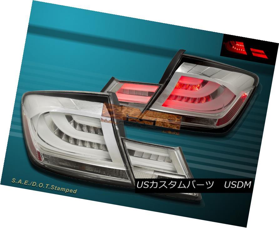 テールライト 13-15 Honda Civic 4dr Sedan Chrome L.E.D Tail lights 4 PCS 13-15ホンダシビック4drセダンクロームL.E.Dテールライト4 PCS