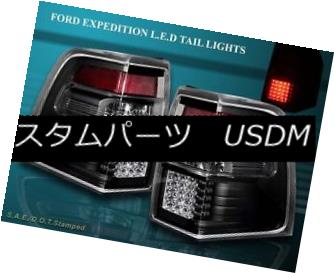 テールライト 07-11 FORD EXPEDITION EL XLT LIMITED TAIL LIGHTS BLACK LED 1 PAIR 2007-2011 07-11 FORD EXPEDITION EL XLTリミテッドテールライトBLACK LED 1 PAIR 2007-2011