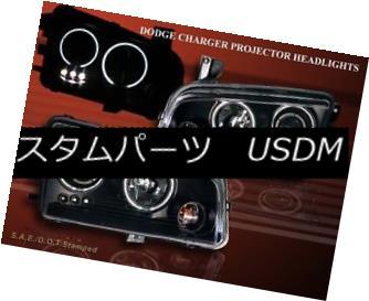 テールライト 2006-2008 DODGE CHARGER TWIN HALO LED BLACK PROJECTOR HEADLIGHTS 2006-2008ダッジチャージャツインハローLED BLACK PROJECTOR HEADLIGHTS