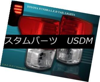テールライト 2007-2012 TOYOTA TUNDRA LED TAIL LIGHTS RED CLEAR G2 LH+RH BRAKE LAMPS 2007?2012年トヨタTUNDRA LEDテールライトレッドクリアG2 LH + RHブレーキランプ