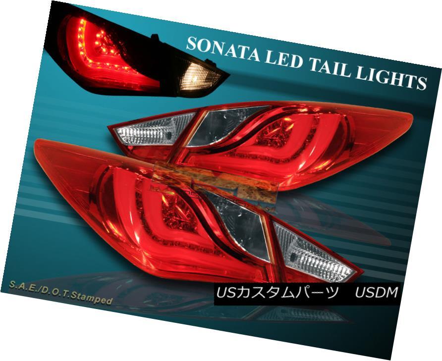 車用品 バイク用品 >> パーツ ライト ランプ テールライト FIT FOR 2011 予約販売品 2012 TAIL 正規品 4 SONATA 2013 RED LED NEW LIGHTS PCS 2011年の2012年の2013年のSONATAテールライトに適合する新しい赤色のLED 4個のPC
