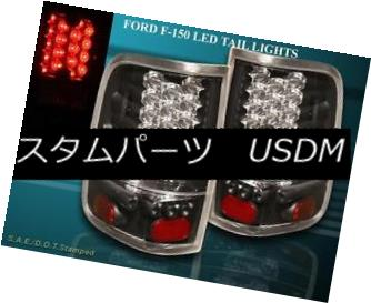 テールライト 04-08 FORD F-150 F150 TAIL LIGHTS BLACK STYLESIDE LED 04-08 FORD F-150 F150テールライトBLACK STYLESIDE LED