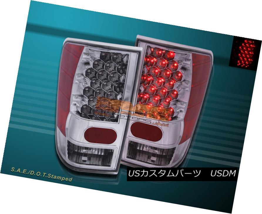 テールライト FIT 2004-2012 NISSAN TITAN LE XE SE CHROME LED TAIL LIGHTS REAR TRUNK FIT 2004-2012 NISSAN TITAN LE XE SE CHROME LED TAIL LIGHTSリアトランク