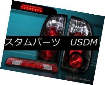 テールライト 00-04 TOYOTA TUNDRA STANDARD / ACCESS CAB TAIL LIGHTS BLK + LED 3RD BRAKE LIGHT 00-04 TOYOTA TUNDRAスタンダード/ ACCESS CABテールライトBLK + LED 3RDブレーキライト