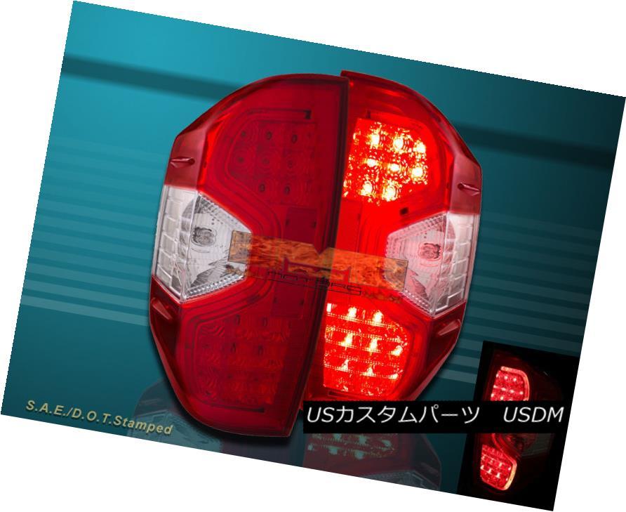 テールライト Red Clear Led Tail Lights For 2014-2015 Toyota Tundra SR5 TRD SR Pickup レッドクリアテールライト2014-2015トヨタトンドラSR5 TRD SRピックアップ