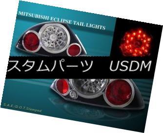 テールライト 00 01 02 Mitsubishi Eclipse Tail Lights Black LED NEW 00 01 02三菱エクリプステールライト黒LED NEW