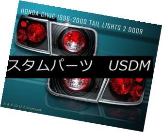テールライト HONDA CIVIC 96-00 TAIL LIGHTS JDM BLACK 2DR COUPE 97 98 99 ホンダシビック96-テールライトJDM BLACK 2DR COUPE 97 98 99