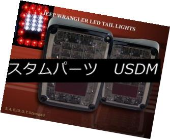テールライト 2007-2014 JEEP WRANGLER TAIL LIGHTS LED PARKING BRAKE REVERSE SMOKE NEW 10 11 12 2007-2014 JEEP WRANGLERテールライトLEDパーキングブレーキリバーススモークNEW 10 11 12