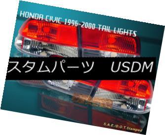テールライト 96-00 HONDA CIVIC TAIL LIGHTS RED/CLEAR 2DR COUPE 98 99 96-00ホンダシビックテールライトレッド/クリア2DRクーペ98 99