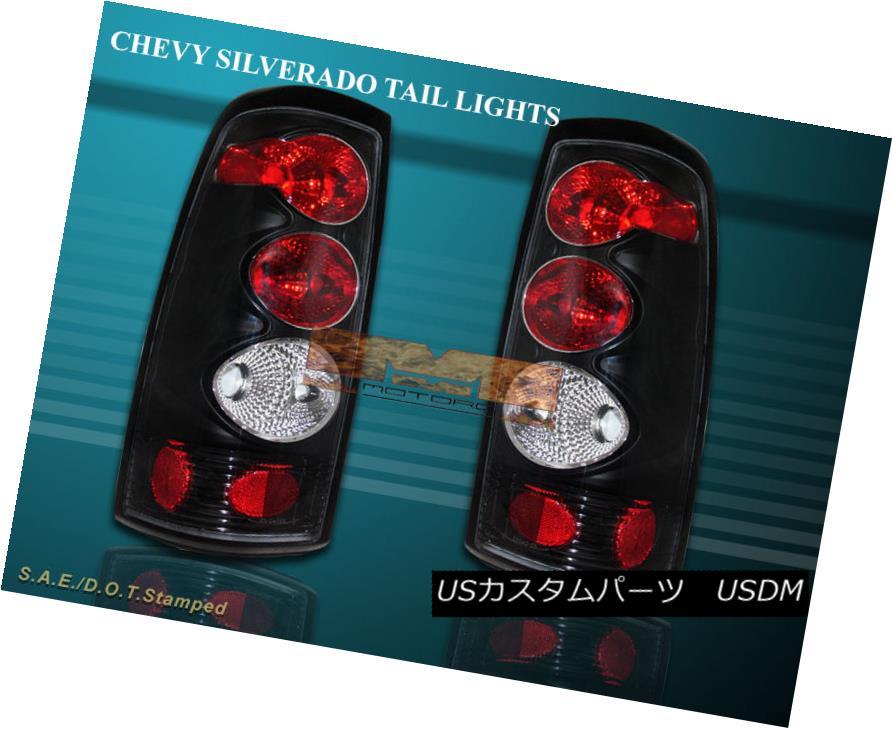 テールライト 99-02 CHEVY SILVERADO TAIL LIGHTS JDM Black LAMP G2 00 99-02チェビーシルベラテイルライトJDMブラックランプG2 00