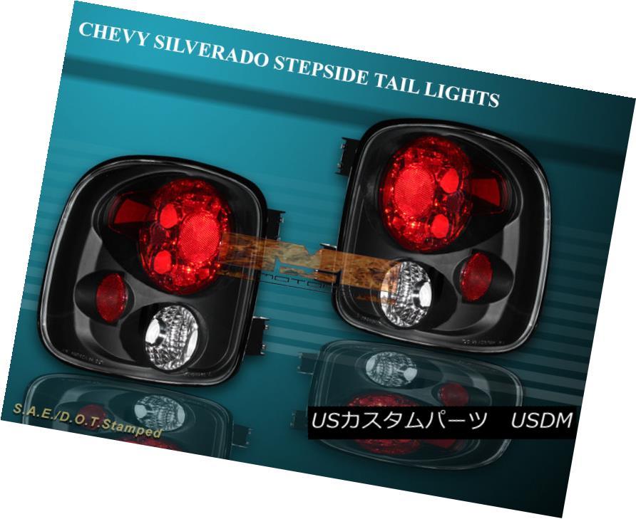 テールライト 99-04 SILVERADO STEPSIDE JDM BLACK TAIL LIGHTS 99 00 01 02 03 04 99-04シルバードスティープサイドJDMブラックテールライト99 00 01 02 03 04