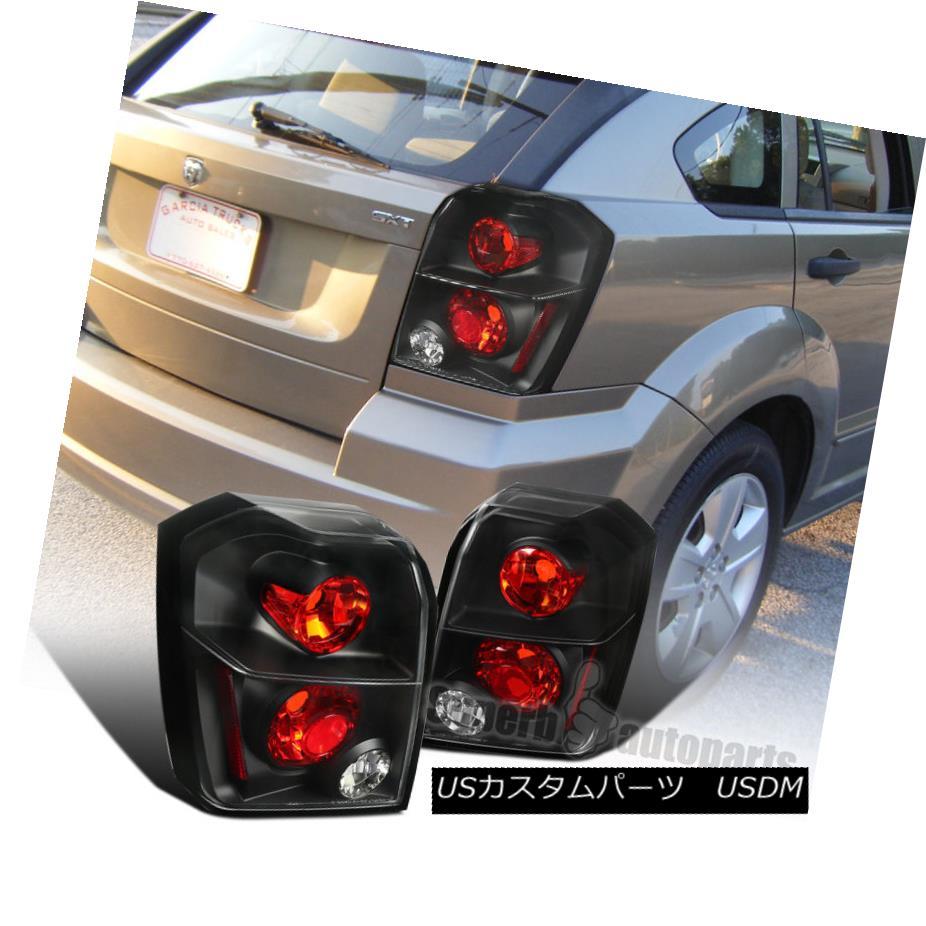 テールライト 2007-2012 Dodge Caliber Euro Replacement Tail Lights Brake Lamps Black 2007 - 2012年ダッジキャリバーユーロ交換テールライトブレーキランプブラック