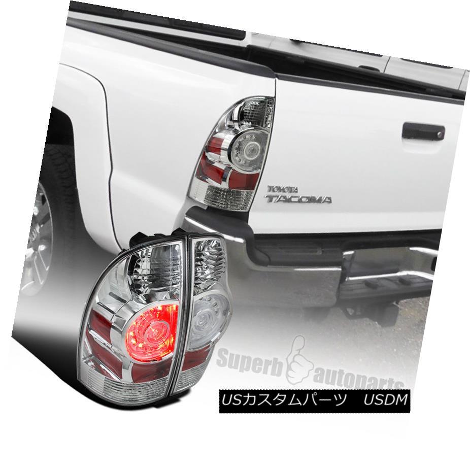 テールライト 2005-2015 Toyota Tacoma X-Runner Chrome Clear LED Tail Brake Lights Lamps 2005-2015トヨタタコマXランナークロームクリアLEDテールブレーキライトランプ