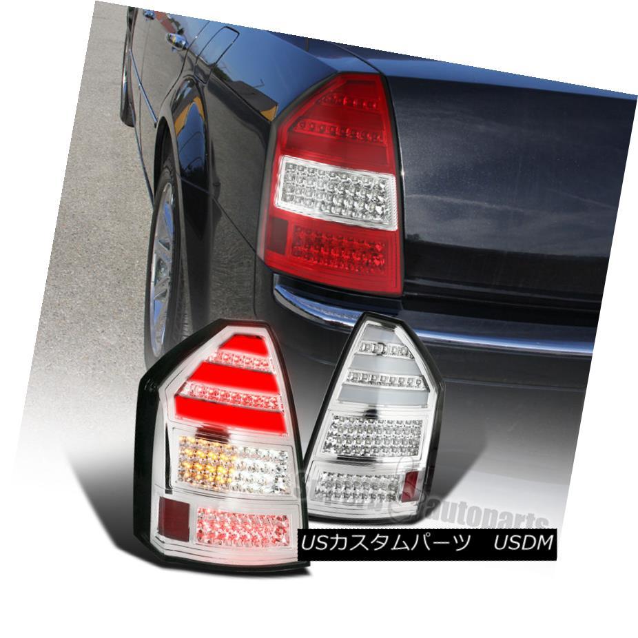 テールライト 2005-2007 Chrysler 300C LED Bar Tail Lights Brake Rear Lamps Chrome Pair 2005-2007クライスラー300C LEDバーテールライトブレーキリアライトクロームペア