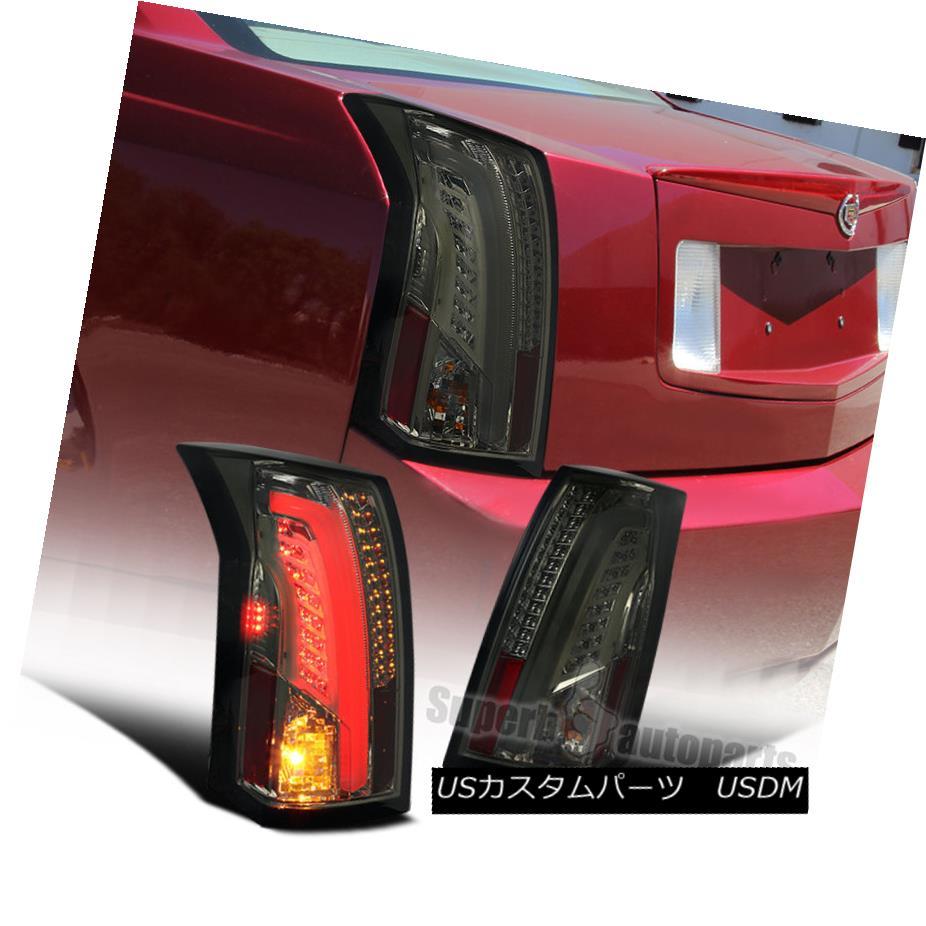 テールライト LED Bar 2003-2007 Cadillac CTS Smoke Lens Tail Brake Lights Stop Lamps LEDバー2003-2007キャデラックCTSスモークレンズテールブレーキライトストップランプ