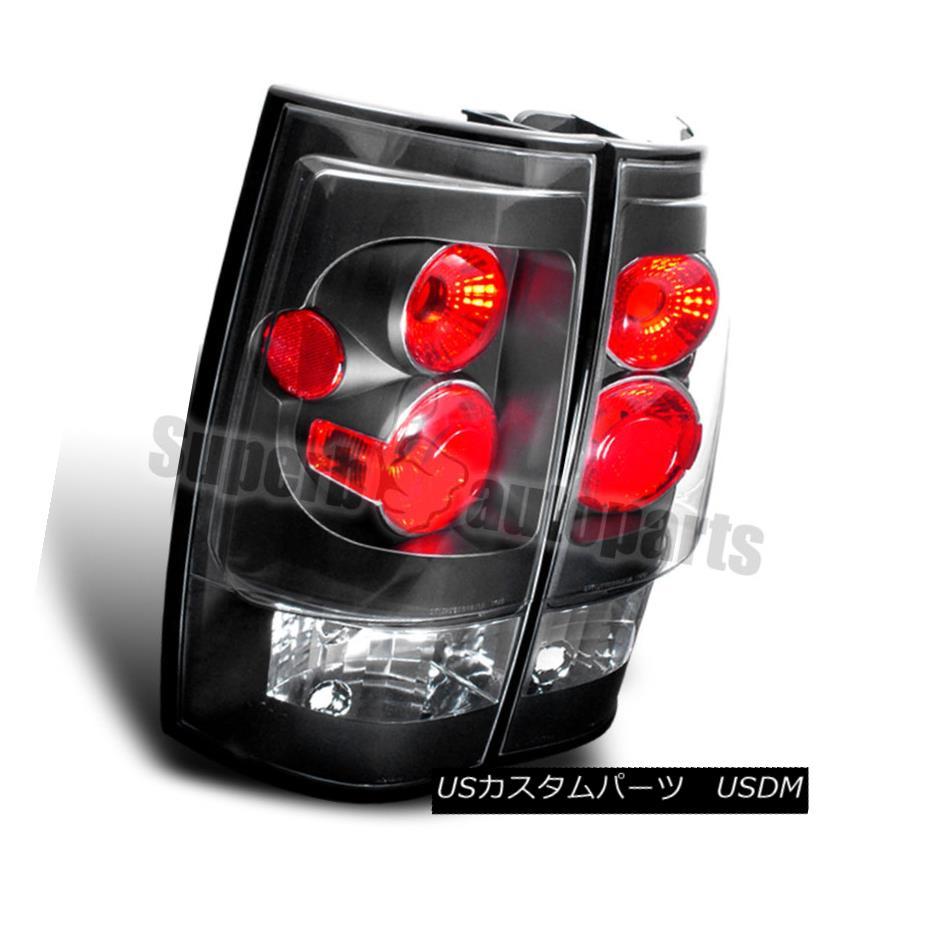 テールライト 2007-2014 Yukon XL Tahoe Suburban Tail Lights Brake Lamps Black 2007-2014 Yukon XL Tahoe郊外テールライトブレーキランプブラック