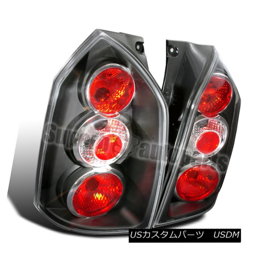 テールライト 2004-2009 Tucson Replacement Tail Lights Brake Lamps Black/ Clear 2004-2009ツーソン交換テールライトブレーキランプブラック/クリア