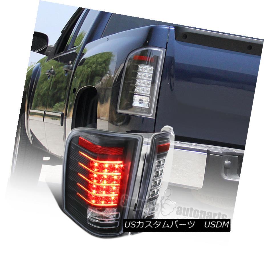 テールライト 2007-2014 Chevy Silverado 1500 2500HD 3500HD Black LED Tail Light Brake Lamps 2007-2014シボレーシルバラード1500 2500HD 3500HDブラックLEDテールライトブレーキランプ