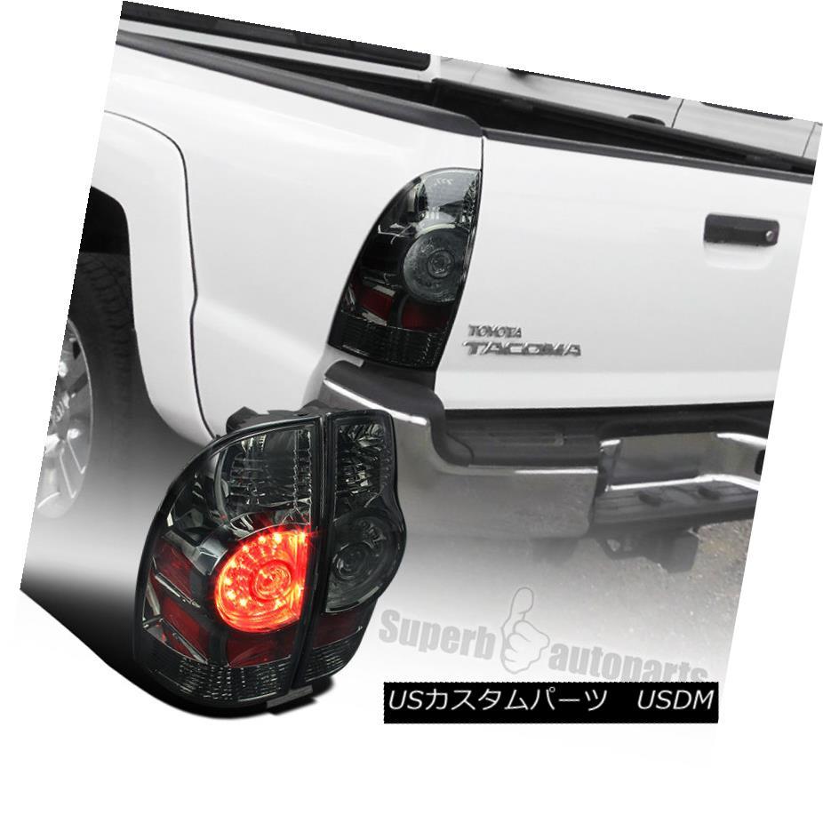 テールライト 2005-2015 Toyota Tacoma X-Runner Smoke Lens LED Tail Brake Lights Lamps 2005-2015トヨタタコマXランナー煙レンズLEDテールブレーキライトランプ