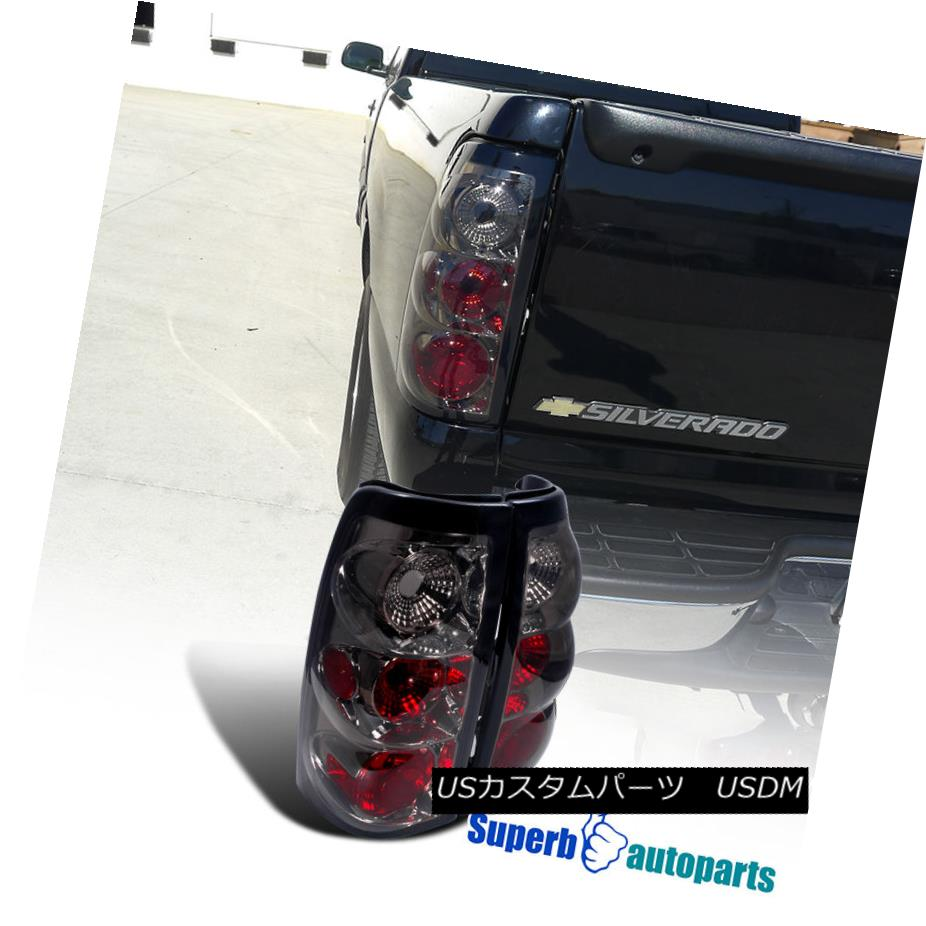 テールライト 1999-2002 Chevy Silverado Fleetside Tail Brake Lights Smoked Lens 1999-2002シボレーシルバラードフリートサイドテールブレーキライトスモークレンズ