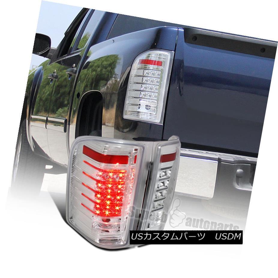 テールライト 2007-2014 Chevy Silverado 1500 2500 LED Tail Light Brake Lamps Clear Lens 2007-2014シボレーシルバラード1500 2500 LEDテールライトブレーキランプクリアレンズ