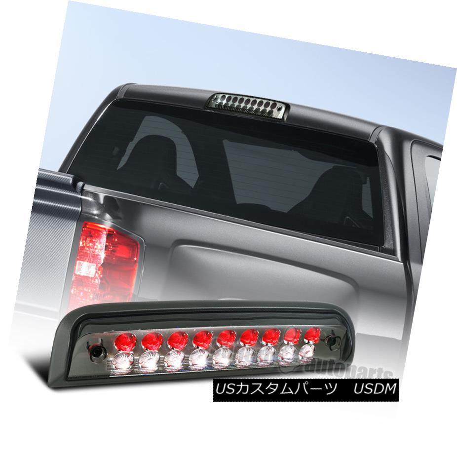 テールライト 14-16 Chevy Silverado GMC Sierra Smoke LED 3rd Brake Light Red+White Inner Lens 14-16シボレーシルバラードGMCシエラ煙LED第3ブレーキライトレッド+ホワイトインナーレンズ