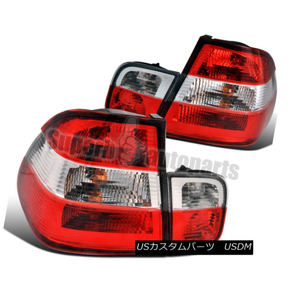 テールライト 1999-2001 BMW E46 3-Series 4dr Tail Trunk Lights Red/Clear 1999-2001 BMW E46 3シリーズ4drテールトランクライトレッド/クリア