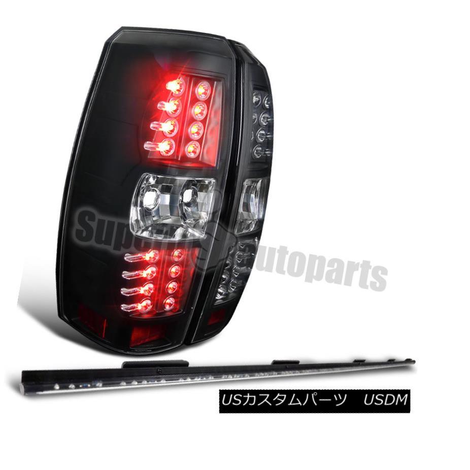 テールライト 2007-2012 Chevy Avalanche Black LED Tail Lights w/ 60