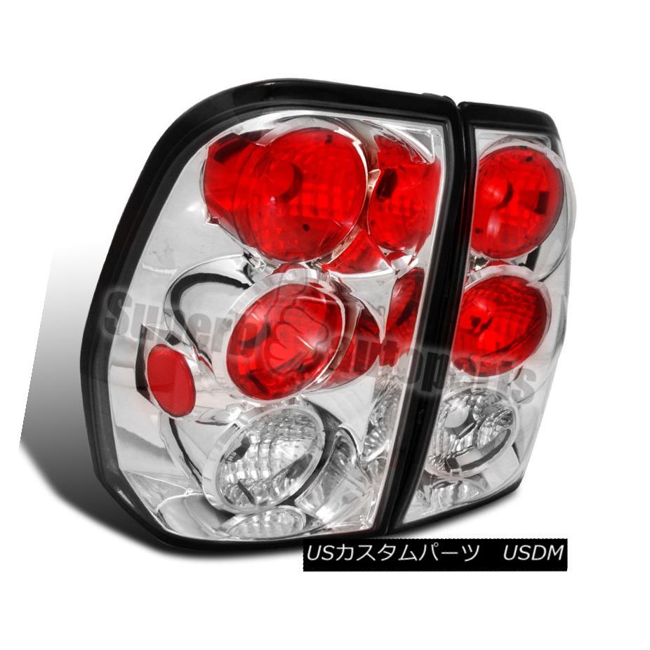 テールライト 2002-2009 Chevy Trailblazer Replacement Clear Tail Brake Lights Chrome 2002-2009シボレートレイルブレイザー交換クリアテールブレーキライトクローム