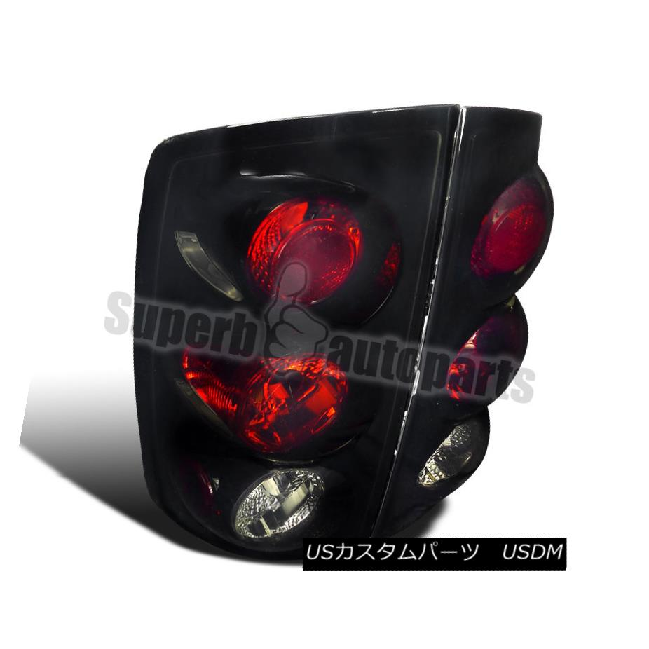 テールライト 2002-2006 Dodge Ram Pickup Replacement Tail Lights Brake Lamps Glossy Black 2002-2006ダッジ・ラム・ピックアップ交換テールライトブレーキランプ光沢ブラック