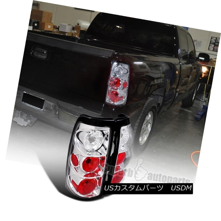 テールライト 1999-2002 Chevy Silverado/ GMC Sierra Fleetside Tail Lamps Brake Lights Chrome 1999-2002シボレーシルバラード/ GMCシエラフリートサイドテールランプブレーキライトクローム