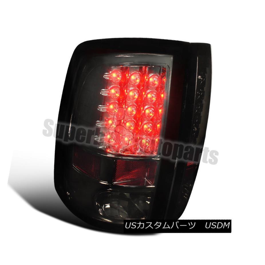 テールライト 2009-2017 Dodge Ram 1500/2500/3500 LED Brake Lamps Tail Lights Smoke 2009-2017 Dodge Ram 1500/2500/3500 LEDブレーキランプテールライトスモーク