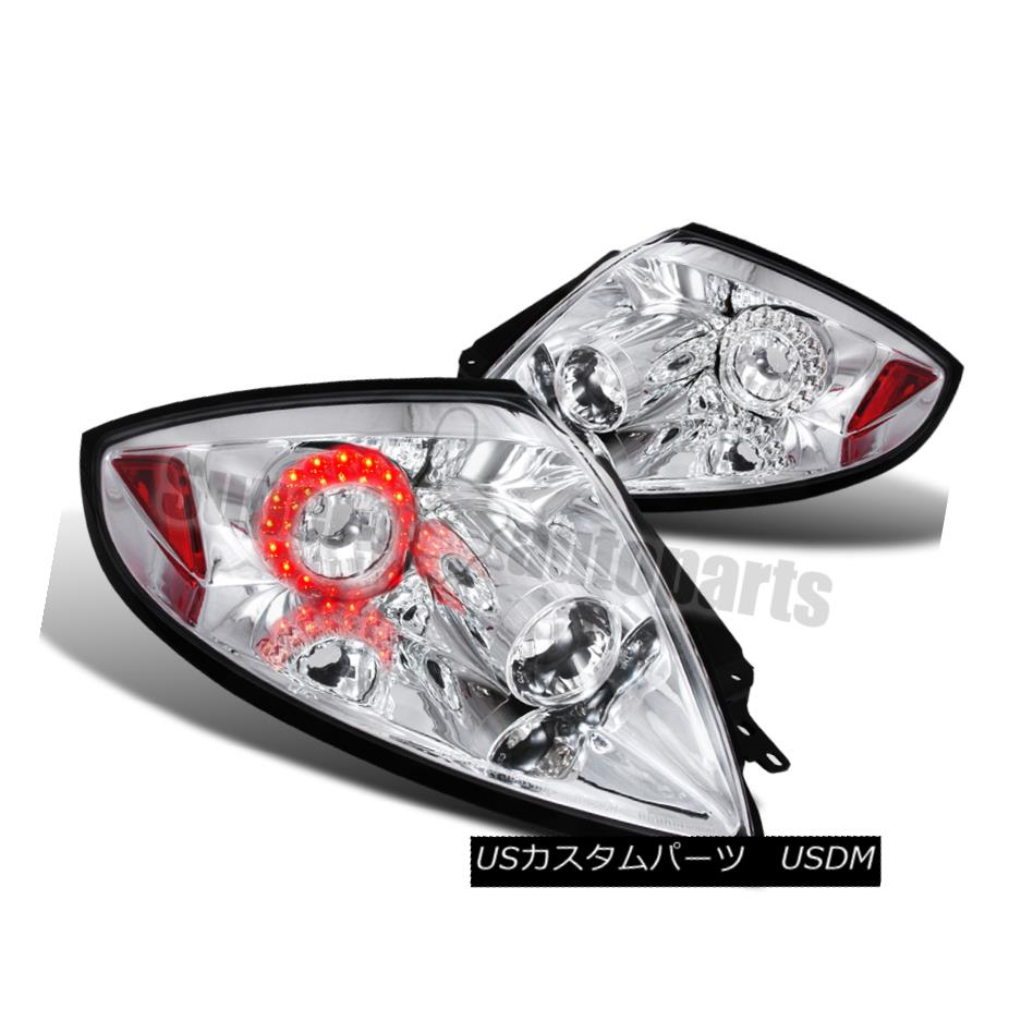 テールライト 2006 -2011 Mitsubishi Eclipse JDM LED Clear Tail Lights Chrome 2006年-2011三菱Eclipse JDM LEDクリアテールライトクローム
