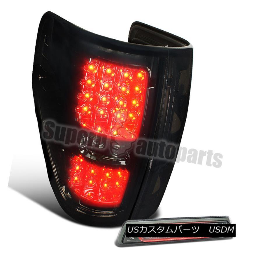 テールライト 2009-2014 Ford F150 Pickup LED Taillight Smoke Lens+Full LED 3rd Tail Brake Lamp 2009年?2014年フォードF150ピックアップLEDテールライトスモークレンズ+フルLED第3テールブレーキランプ