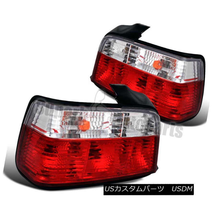 テールライト 1992-1998 BMW E36 3-Series 4dr Sedan Tail Lights Brake Lamp Red/Clear 1992-1998 BMW E36 3シリーズ4drセダンテールライトブレーキランプレッド/クリア