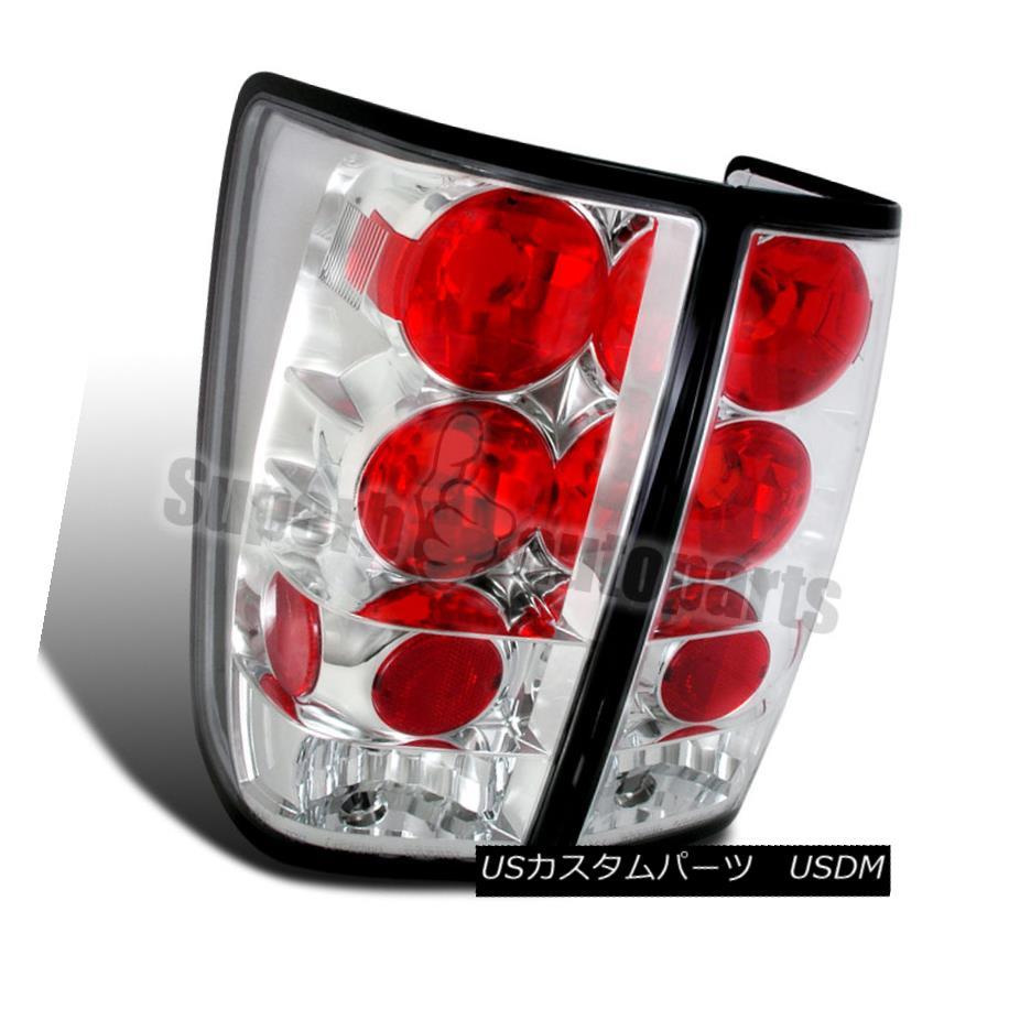 テールライト For 2004-2013 Titan Replacement Tail Lights Brake Lamps Chrome/ Clear 2004年?2013年タイタンの交換テールライトブレーキランプクローム/クリア