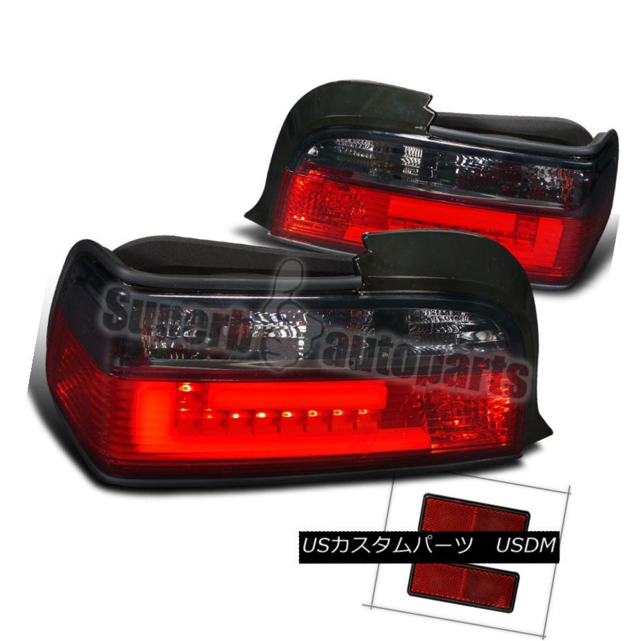テールライト 1992-1998 BMW E36 3-Series 2dr New 3D Light Bar LED Tail Lights Lamps Red/ Smoke 1992-1998 BMW E36 3シリーズ2dr新しい3DライトバーLEDテールライトランプレッド/スモーク