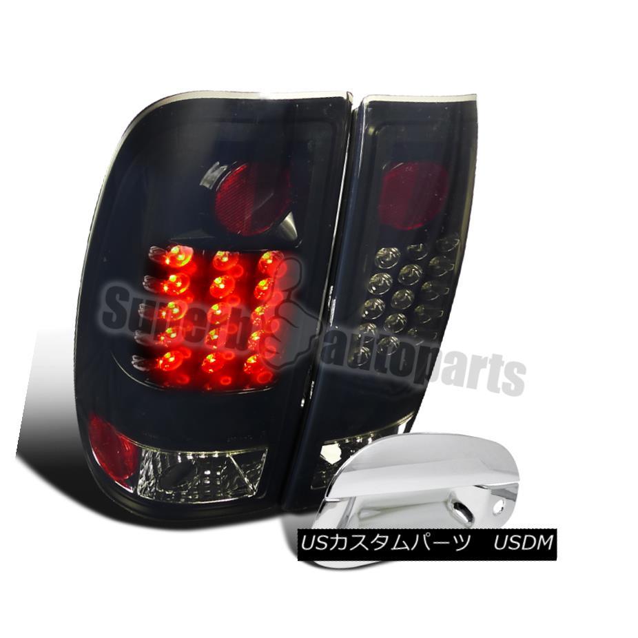 テールライト 1997-2003 F150 Styleside LED Brake Lights Glossy Black+Tail Handle Cover Chrome 1997-2003 F150 Styleside LEDブレーキライトグロッシーブラック+テールハンドルカバークローム