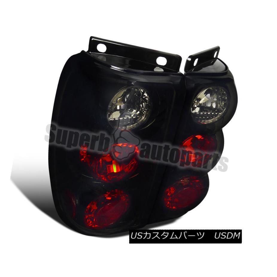 テールライト 1995-1997 Ford Explorer Tail Brake Lights Glossy Black Dark Smoke 1995-1997 Ford Explorerテール・ブレーキ・ライトGlossy Black Dark Smoke