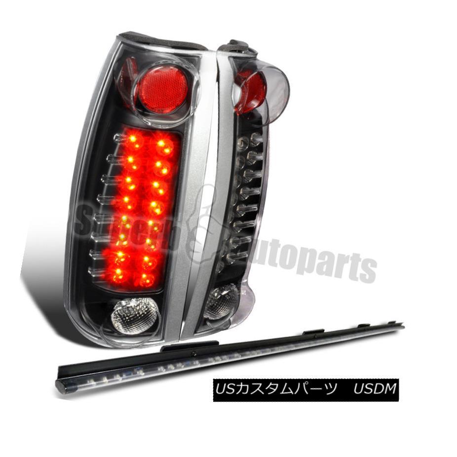 テールライト 1988-1998 Chevy C10 C/K Silverado LED Tail Lights Black+Tailgate Light Bar 49