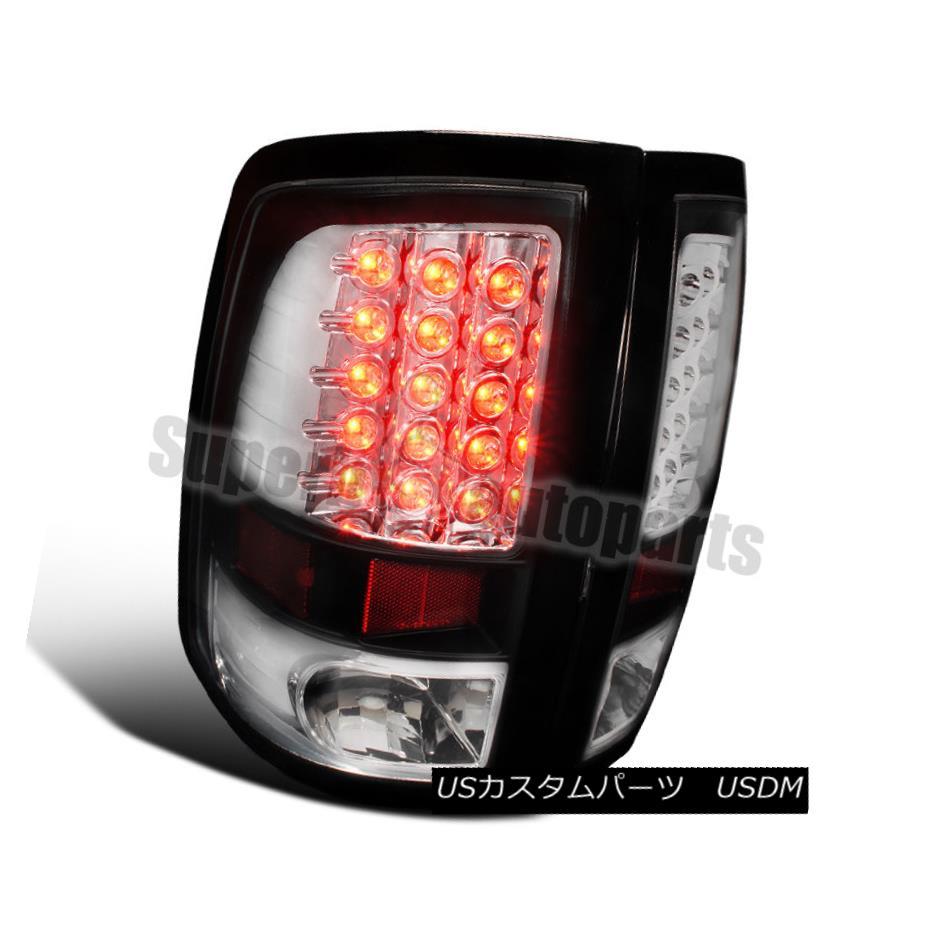 テールライト 2009-2017 Dodge Ram 1500 2500 3500 LED Brake Lamps Tail Lights Black 2009-2017 Dodge Ram 1500 2500 3500 LEDブレーキランプテールライトブラック