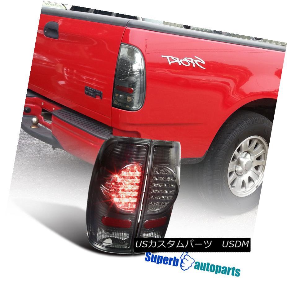 テールライト 97-03 Ford F150 F250 SuperDuty Styleside Smoke Lens LED Rear Tail Brake Lights 97-03 Ford F150 F250 SuperDuty StylesideスモークレンズLEDリアテールブレーキライト