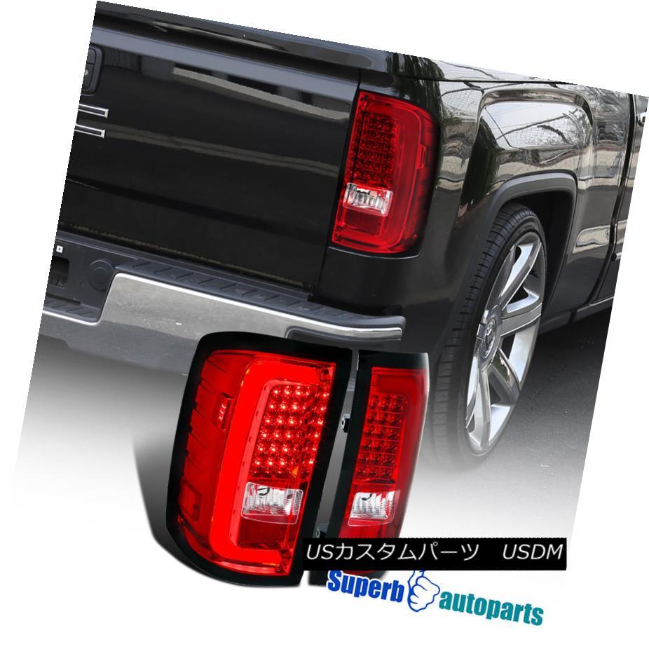 テールライト 2014-2017 GMC Sierra 1500 2500HD 3500HD LED Tail Lamp Brake Stop Lights Red 2014-2017 GMC Sierra 1500 2500HD 3500HD LEDテールランプブレーキストップライト赤