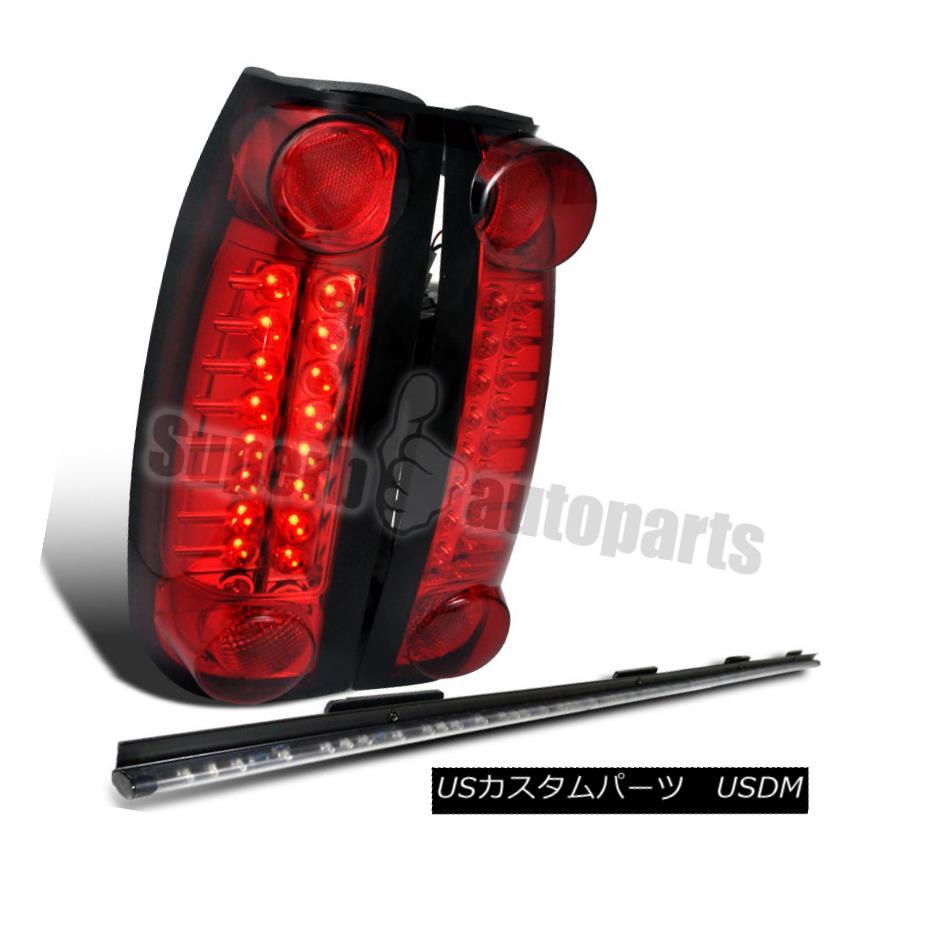 テールライト 1988-1998 Chevy GMC C10 Sierra Yukon Red LED Tail Lights+49
