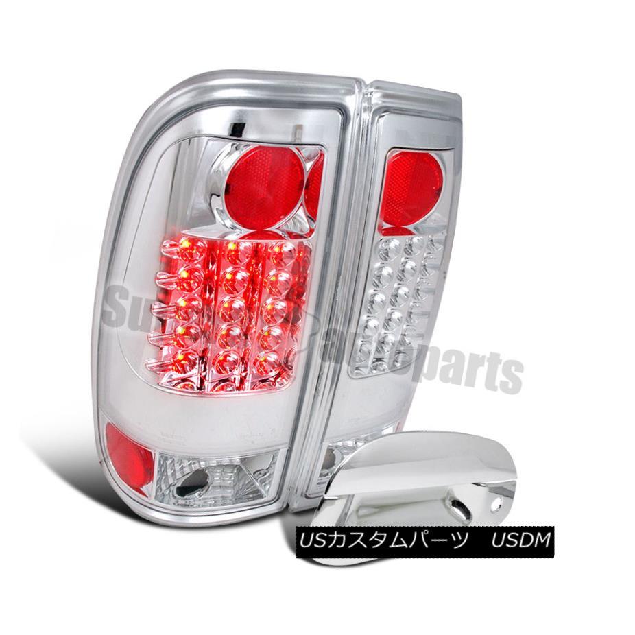 テールライト 1997-2003 F150 Styleside LED Brake Lights Clear+Tail Gate Handle Cover Chrome 1997-2003 F150 Styleside LEDブレーキライトクリア+テールゲートハンドルカバークローム